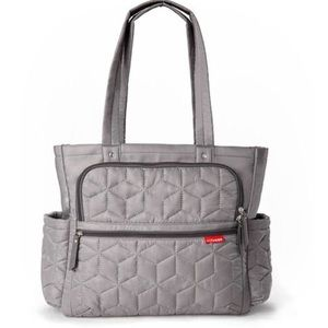 Skip Hop Grey/Green Diaper Bag